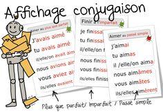 Affichages conjugaison : imparfait , passé simple , plus que parfait - Bout de gomme