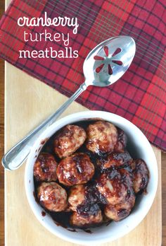 Cranberry Turkey Meatballs. An unconventional Thanksgiving starter!