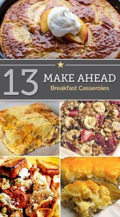Expecting a crowd for breakfast? Or looking for the perfect holiday brunch? These make-ahead breakfast casseroles are sure to save you time and satisfy everyone at your table.