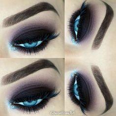 Black and purple Eyeshadow