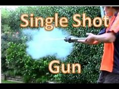 How To Make A Home Defence Single Shot Gun , CO2 Rocket