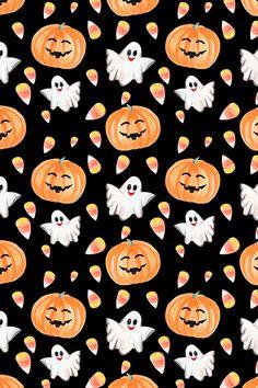 Holiday Wallpaper, Halloween Wallpaper, Halloween Backgrounds, Fall Wallpaper, Wallpaper Ideas, Iphone Wallpaper, Printable Scrapbook Paper, Digital Scrapbook Paper, Halloween Clipart
