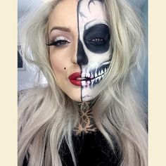 Makeup, Beauty, Hair & Skin   62 Terrifyingly Cool Skeleton Makeup Ideas to Try For Halloween   POPSUGAR Beauty