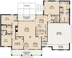 A Proven Floor Plan - 84043JH | 1st Floor Master Suite, Butler Walk-in Pantry, Corner Lot, Den-Office-Library-Study, PDF, Southern, Split Bedrooms | Architectural Designs
