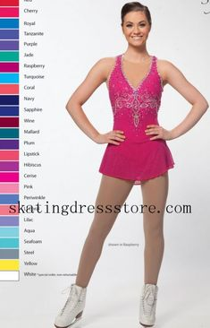 Pink Competition Women No Sleeve Nude Mesh Skating Dress Brad Griffies - Ice Skating Dresses Coral Navy, Coral Turquoise, Magenta, Plum Lipstick, Cerise Pink, Figure Skating Dresses, Leotards, Pink Girl, Sport Outfits