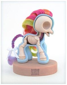 toy cuteness On the inside - my little pony, hello kitty, care bears and more...  #skeleton #toys