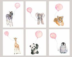 Girls nursery decor baby print set nursery by Marysflowergarden