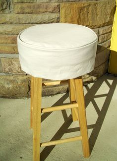 Ivory Bar Stool Cushion Round Barstool Slipcover With Covers