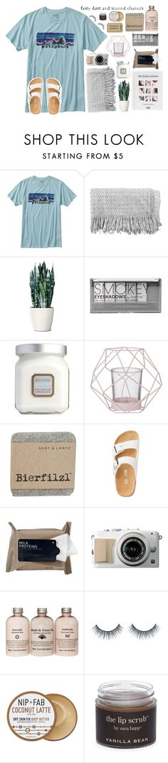 """""""✧✧;; ticket to anywhere"""" by jsigmon03 ❤ liked on Polyvore featuring Patagonia, canvas, Boohoo, Laura Mercier, Bloomingville, Korres, Nip+Fab and Sara Happ"""