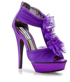 Purple shoe -
