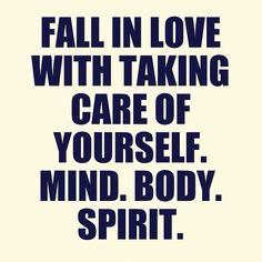 Fall in love with taking care of yourself. #health #wellness #chiropractic