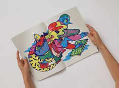 Bright fluoros and brilliantly executed line-work in Berlin-based Nadine Kolodziey's work.