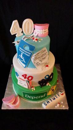 Geriatric 40th Birthday Cake 40 birthday cakes 40 birthday and