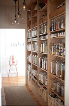 Amazing pantry.  @Jen Jones I thought of you when I saw this :)