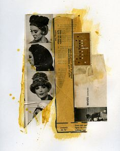 wives continued. Collage, acrylic on sketchbook paper, 9 x 12 inches.