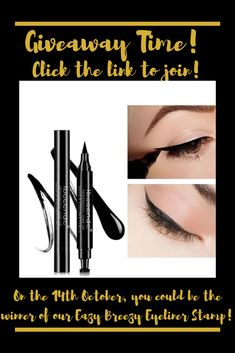 Welcome to the eyeliner hack of the century! We're giving away our amazing time-saving winged eyeliner stamp. You can do sexy cat eyes Eazy Breezy! To join the giveaway follow the link! Makeup Product Giveaway | Makeup Giveaway | Makeup Accessories Giveaway | Makeup Giveaway Ideas | Makeup Giveaway 2019 | Makeup Giveaway Products #makeupgiveaway #makeupproductgiveaway #makeup #giveaway #beauty Winged Eyeliner Stamp, Eye Liner Tricks, Art Of Beauty, Time Saving, Cat Eyes, Best Makeup Products, Giveaways, Gel Nails, Makeup Looks