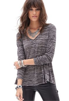 Slub Knit V-Neck Sweater - Sweatshirts & Knits - 2055879590 - Forever 21 UK Cute Sweaters, Sweaters For Women, Cardigan Fashion, Sweater Weather, New Fashion, Fall Outfits, What To Wear, Latest Trends, Ready To Wear