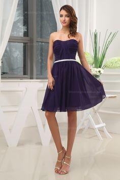 Fine pleated natural waist dress with chiffon $99.98