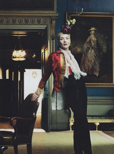 I like the jacket. Please shoot me if I ever wear a similar head piece though #bridesmaid @Carole Emens babushka