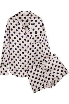 Silk polka dot pajama set. | Fashion | Pinterest | Type 4, Pajamas ...