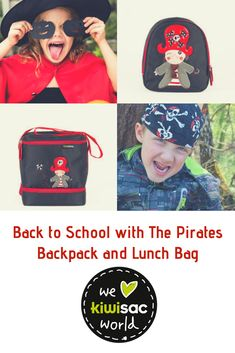Toddler Backpack and Lunch Bag for Kids Kiwisac The Pirates Boy Toddler Backpack, Backpack Bags, Kids Lunch Bags, Lunch Box, Pirate Boy, Insulated Lunch Bags, Baby Diaper Bags, Kids Backpacks, Baby Products