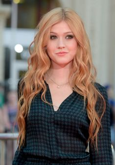 Katherine McNamara Hairstyle on Red Carpet – 'This Is Where I Leave You' Premiere in Hollywood