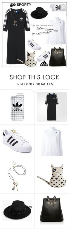 """Go Sporty in Adidas"" by pat912 ❤ liked on Polyvore featuring Casetify, adidas, adidas Originals, Boohoo, Charlotte Olympia and polyvoreeditorial"