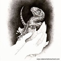 Jurassic Park Concept Art - Hatchling Velociraptor by IndominusRex on DeviantArt Jurassic Park Raptor, Jurassic Park Series, Dinosaur Drawing, Dinosaur Art, Blue Jurassic World, Raptor Dinosaur, Dinosaur Tattoos, Dinosaur Illustration, Blue Tattoo