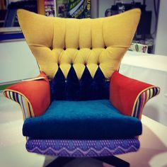 """""""If the Mad Hatter had an armchair... Rediscovery Ballymun does Upcycled furniture from our furniture trade fair"""""""