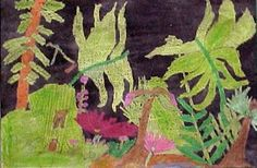 Rousseau Jungle by my student Lance, grade 3 (Donna Staten)