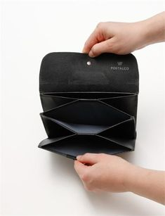 Postalco Postcard Leather Wallet - Black