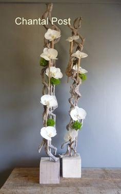 Artist: Chantal Post - New Ideas - Artist: Chantal Post Artist: Chantal Post - Creative Flower Arrangements, Flower Arrangement Designs, Ikebana Arrangements, Flower Designs, Floral Arrangements, Decoration Branches, Branch Decor, Flower Decorations, Flower Crafts