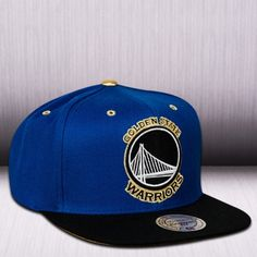 Mitchell   Ness NBA Golden State Warriors Gold Tip Snapback Cap cd1860d10e1