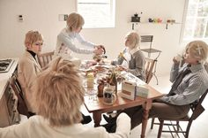 Iceland, Norway, Finland, Sweden and Denmark, Axis powers Hetalia | yuharu - WorldCosplay this is too cute :3