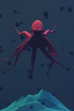GEO A DAY - Dark geometric octopus