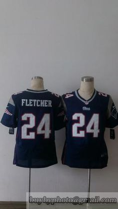 Men s New England Patriots Bradley Fletcher Nike Blue Elite Jersey 13710ace7