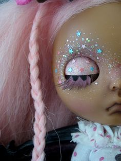 Whereupon I learned that the pale pink glitter isn't really pink; just clear iredescent with pink sand. Needless to say, VERY disappointed in the result. Pink Sand, Pink Glitter, Confetti Photos, Pastel Grunge, Smart Doll, Tiny Dolls, Creepy Dolls, Disappointed, Doll Face