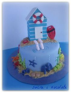 Lifeguard cake - by sucreixocolate @ CakesDecor.com - cake decorating website