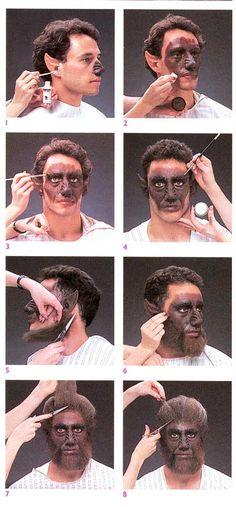 Werewolf makeup step by step.                                                                                                                                                                                 More
