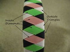 How to cover a headband in ribbon. This could be cute for holidays or to match school uniforms!