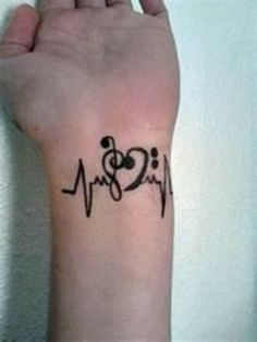 Wrist Music Tattoos For Girl