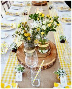 cuadros vichy boda gingham wedding