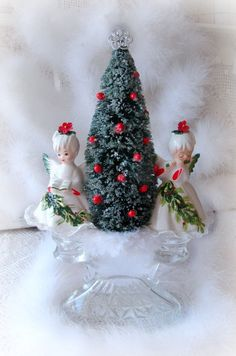 Vintage Lefton Christmas Angels Centerpiece Lefton by treasured2