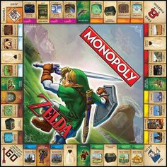 """Are you playing """"Monopoly"""" or """"Zelda""""? Yes, it's another Monopoly game, with the board, pieces and cards personalized to the quirks of the video game """"Legend of Zelda."""""""