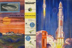 Rocket Vostok 1 And Soviet Cosmonaut Vintage Ornament Toy 1961 Sophisticated Technologies