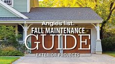 Angie's List Fall Maintenance Guide - Exterior Projects