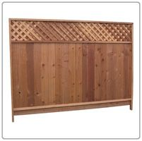 Redwood fence - to block kitchen