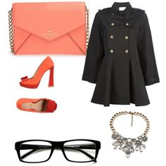 Untitled #408 by evanmonster on Polyvore featuring polyvore fashion style RED Valentino Schutz Kate Spade