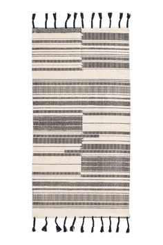 Striped cotton rug - Anthracite grey Natural white - Home All 1baf9ac6e0654