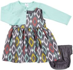 Carter's Baby Girls 3-piece Cardigan Dress Set